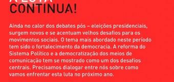 19/11/14 – debate – Reforma Política: A luta continua!