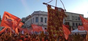 Uma tarde vermelha – Mobilização pela reeleição de Dilma no Recife, Pernambuco
