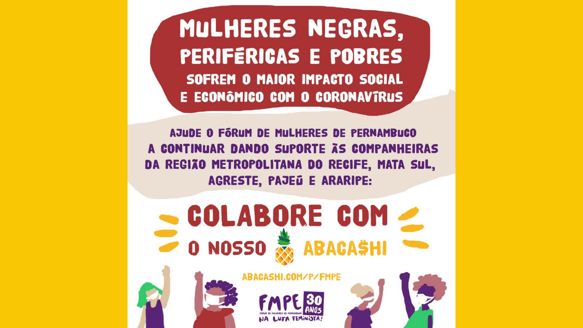 Fórum de Mulheres de Pernambuco arrecada recursos para Rede de Solidariedade às mulheres