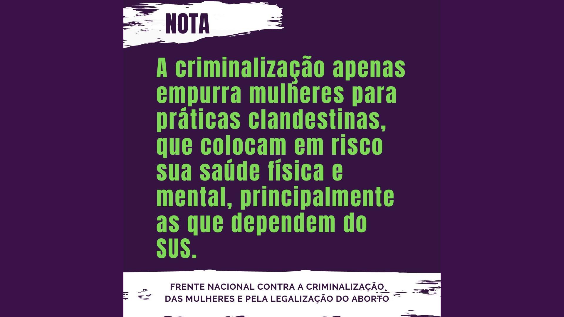 Criminalização do aborto é expressão da violência racista e sexista no Brasil