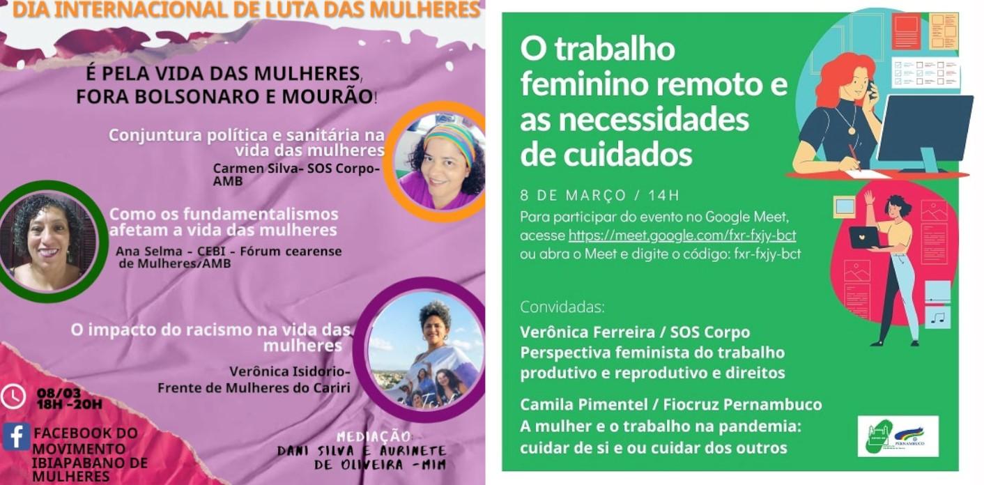 SOS CORPO participa de debates neste 8M de Luta das Mulheres!