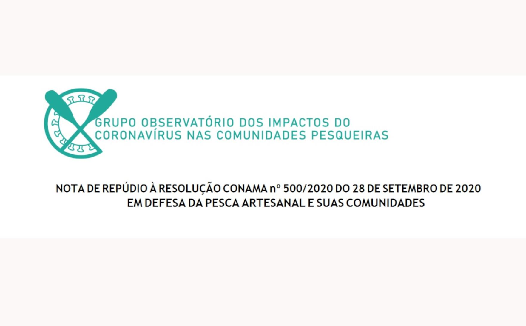 Nota de repúdio das comunidades pesqueiras e organizações à resolução do CONAMA