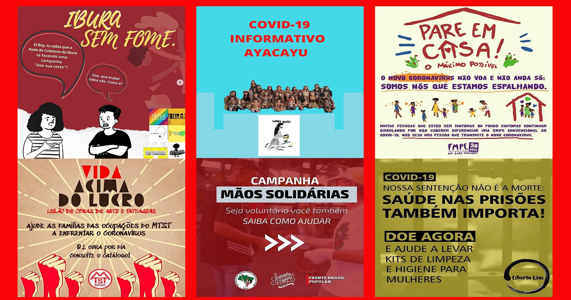 Movimentos sociais e populares formam redes de solidariedade para enfrentar o coronavírus