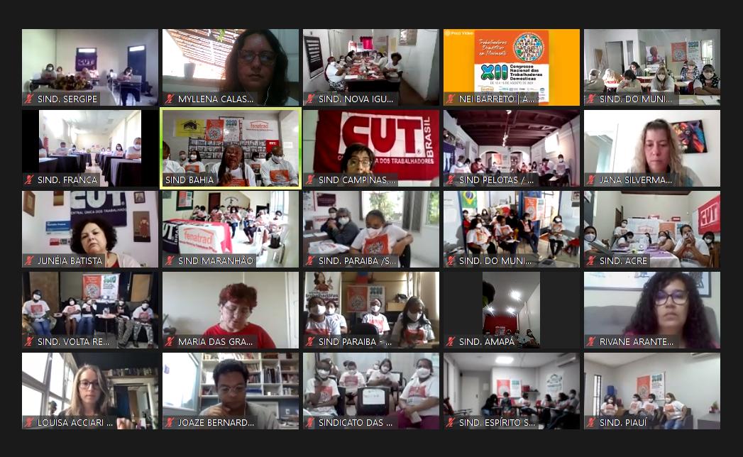 XII Congresso Nacional das Trabalhadoras Domésticas discute pandemia e trabalho análogo à escravidão