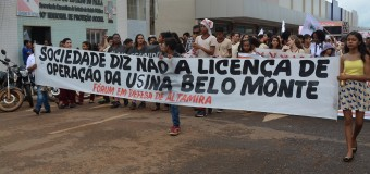 Movimentos Sociais protestam contra licença de operação (L.O.) para funcionamento de Belo Monte