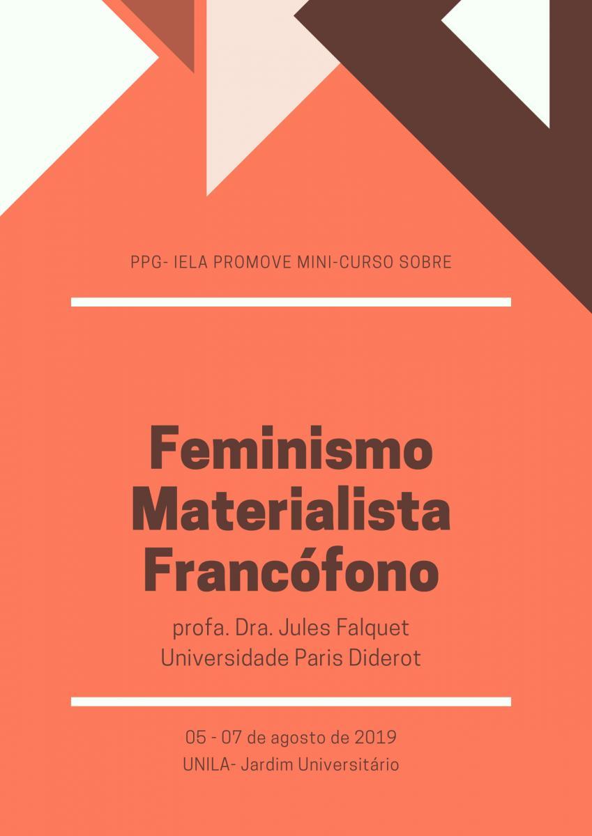 Minicurso sobre Feminismo Materialista Francófono acontece na UNILA
