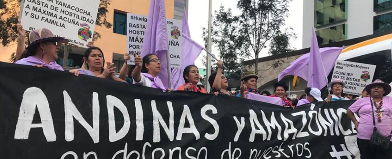 Mujeres rurales exigen el reconocimiento de sus Derechos en Perú