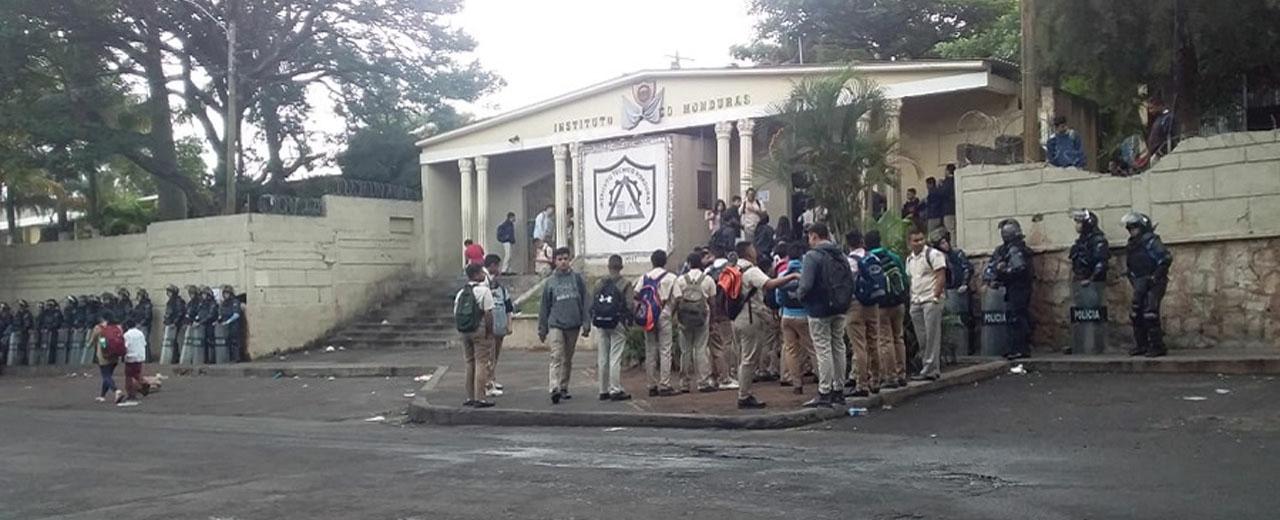 Condenamos actos de represión en contra de las niñas, niños, adolescentes y jóvenes en Honduras