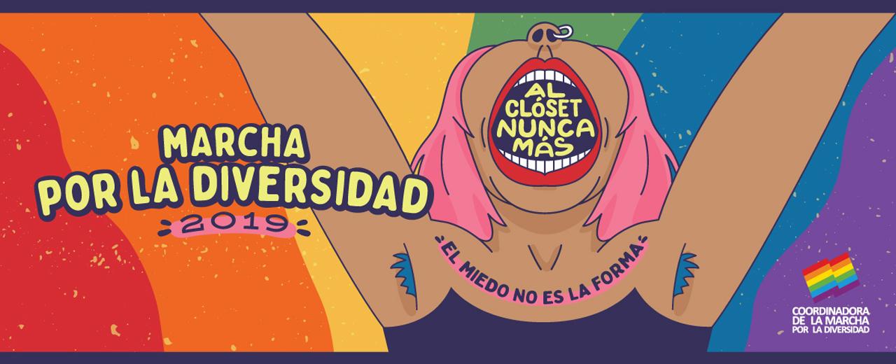 Marcha por la Diversidad en Montevideo: Al clóset nunca más. El miedo no es la forma