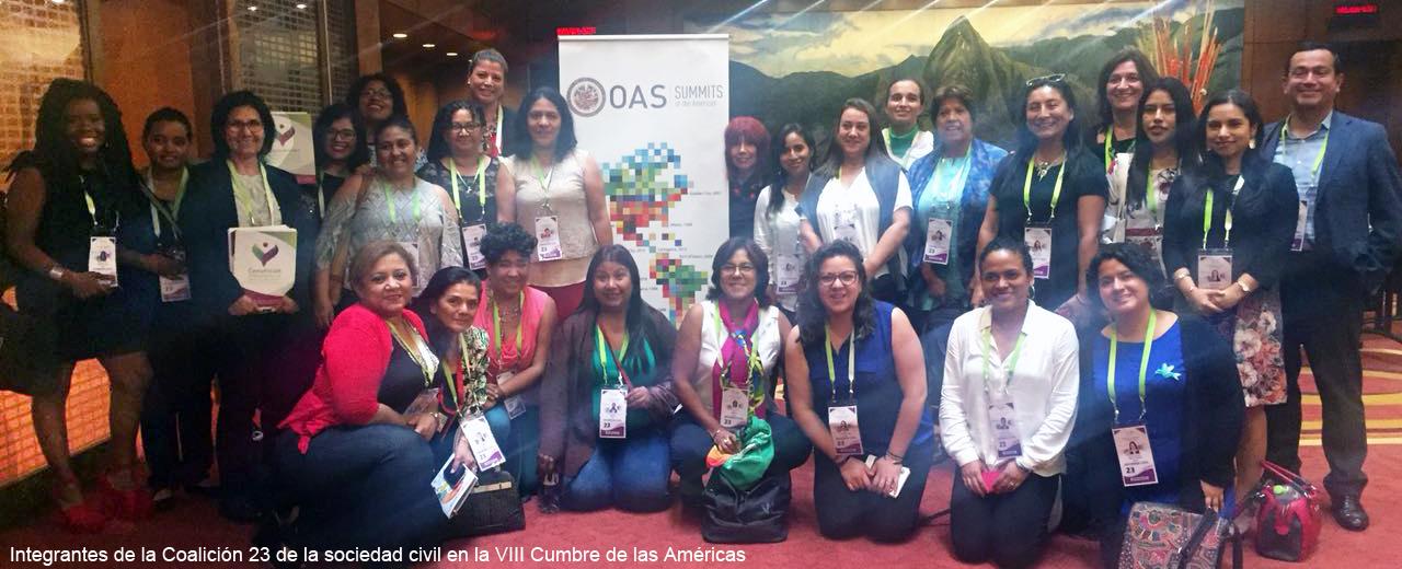 Igualdad de género en la VIII Cumbre de las Américas