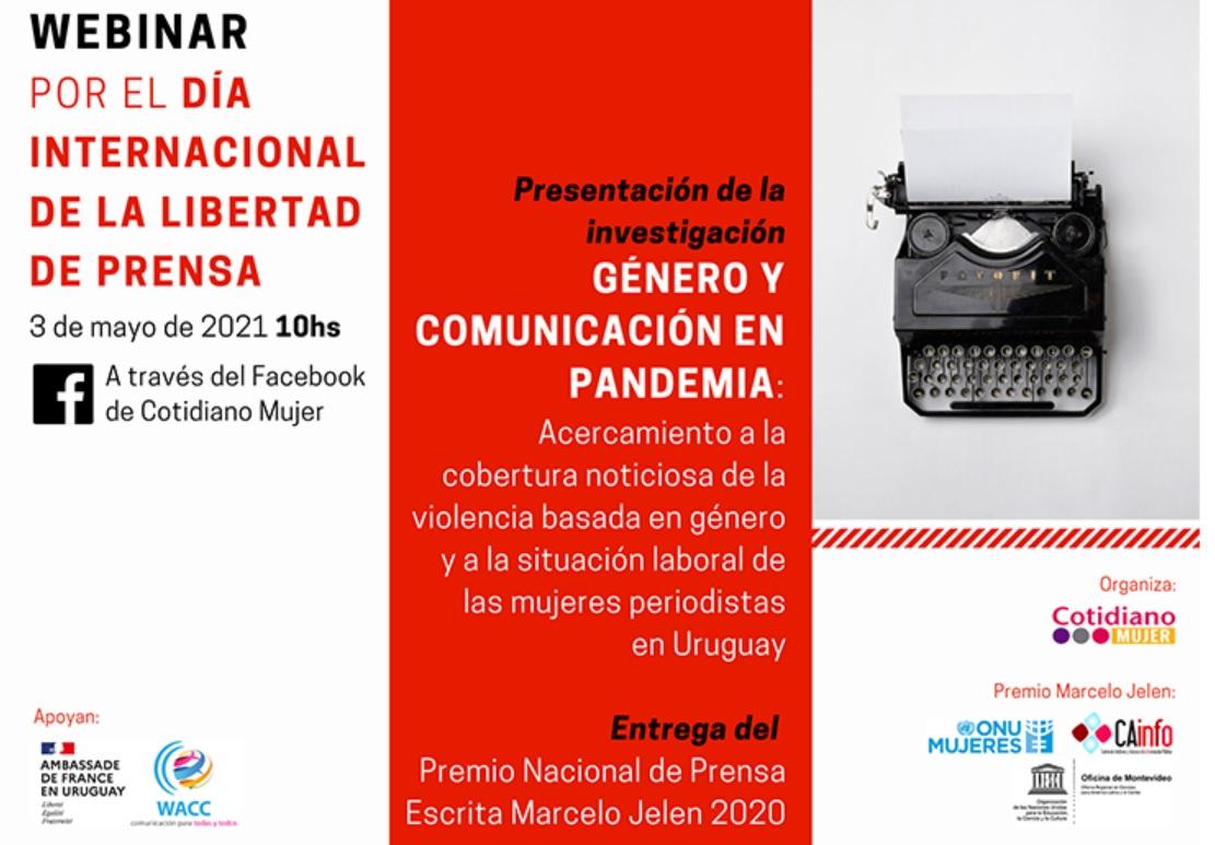 #DíaDeLaLibertadDePrensa: Género y comunicación en pandemia