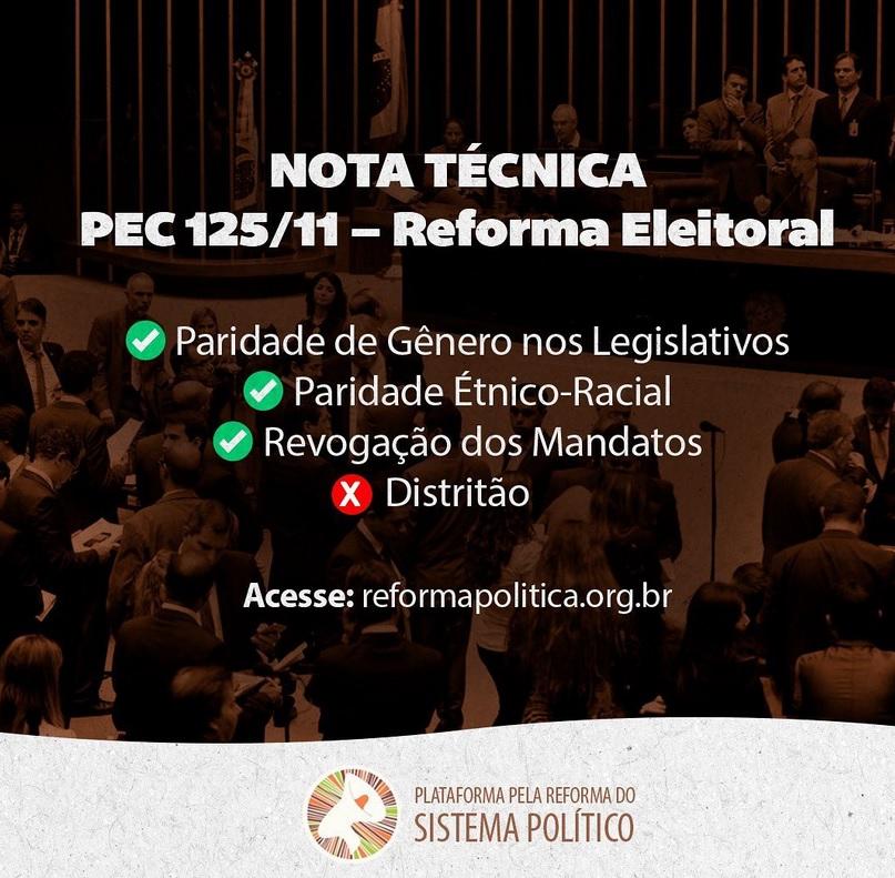 Nota Técnica sobre a PEC 125/11 – Reforma Eleitoral