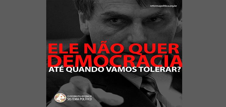 Democracia sempre: nota da Plataforma dos Movimentos Sociais pela Reforma do Sistema Político