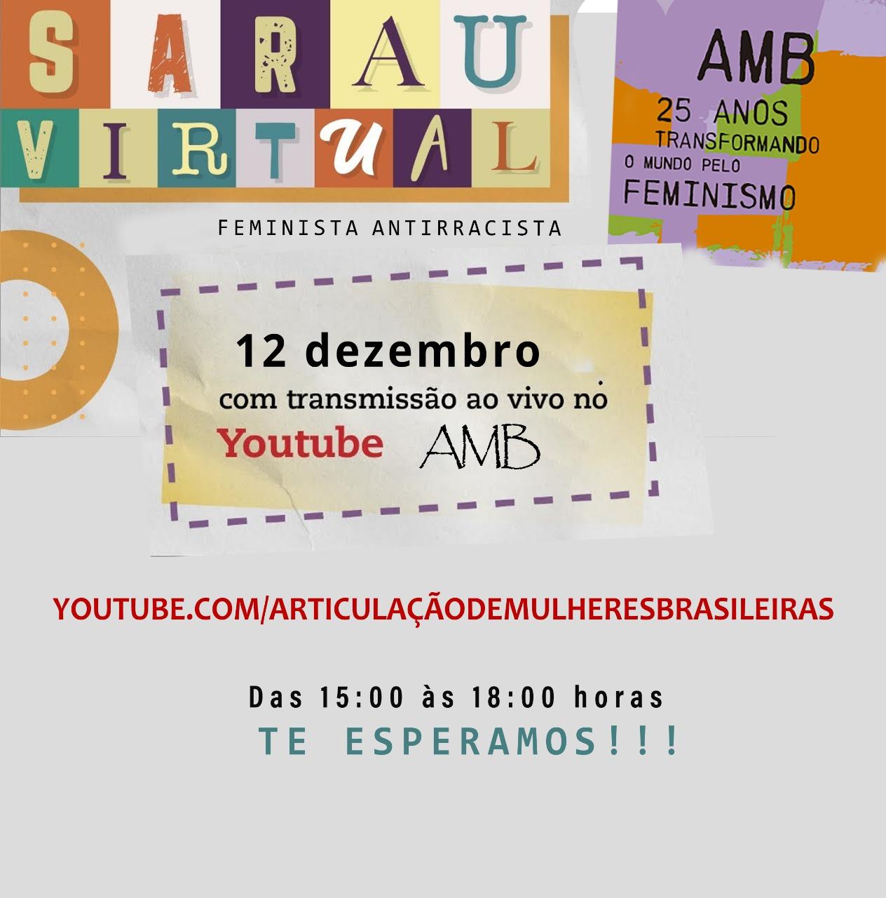 Articulação de Mulheres Brasileiras celebra 25 anos com Sarau Feminista Antirracista neste sábado
