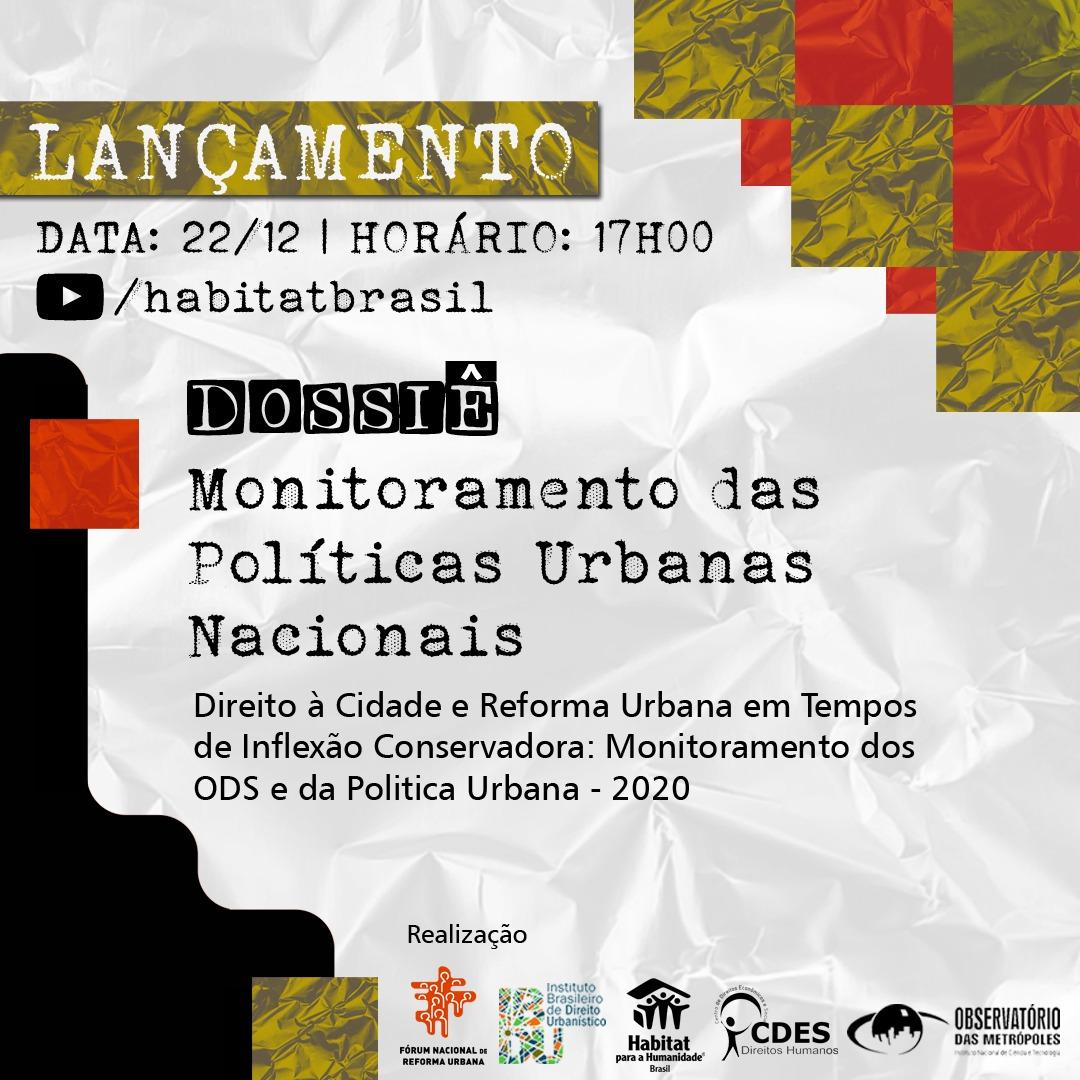 Dossiê sobre Monitoramento de Políticas Urbanas Nacionais será lançado dia 22