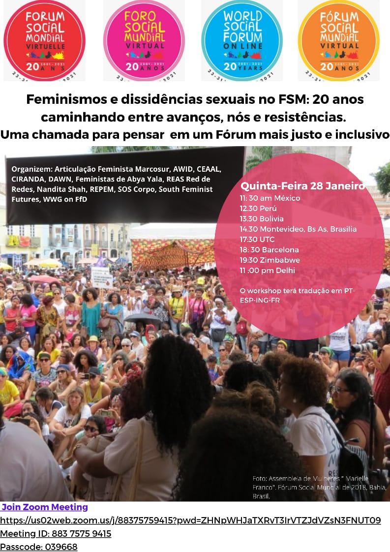 #FSM21: Feminismos e Dissidências Sexuais