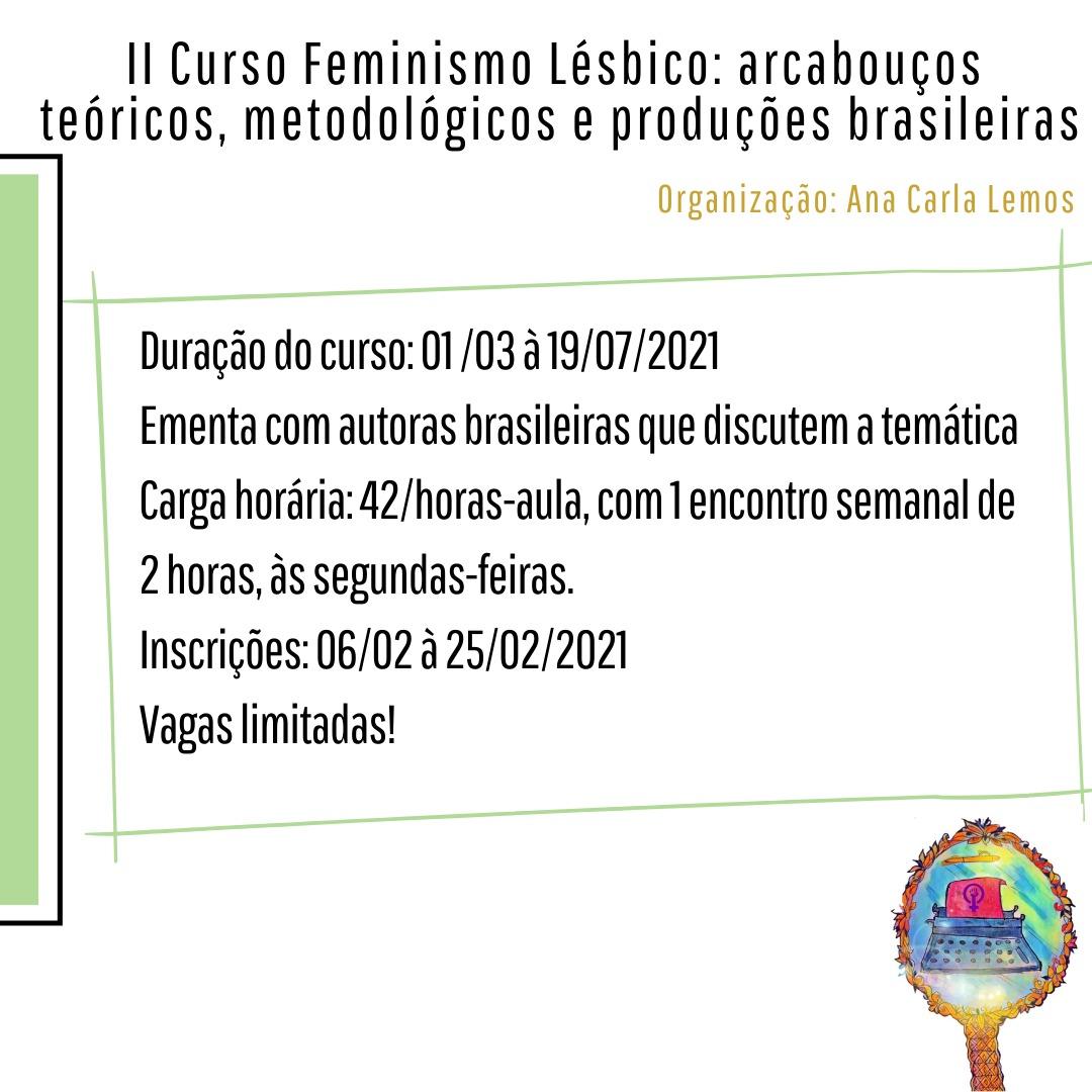 Inscrições abertas para o II Curso de Feminismo Lésbico