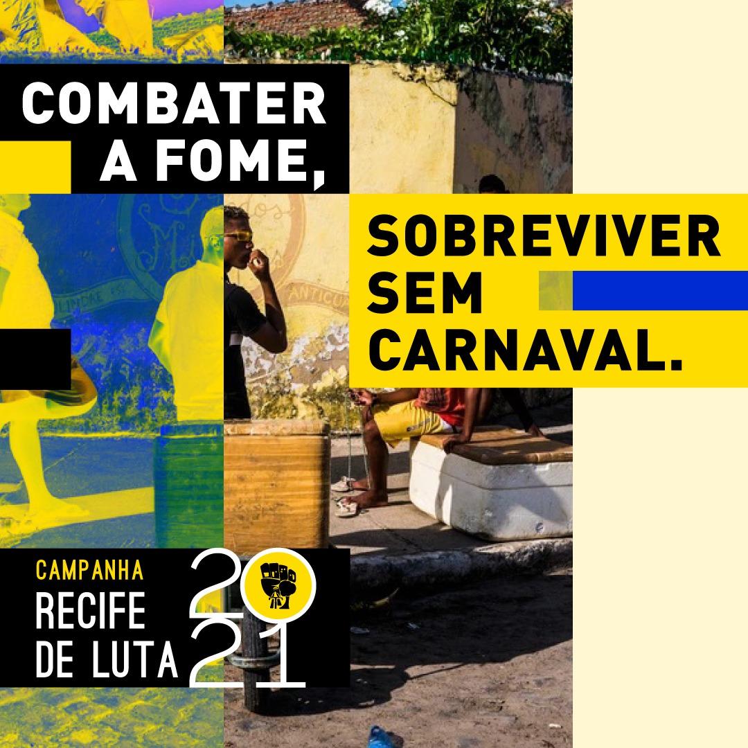 Articulação Recife de Luta faz campanha para apoiar famílias impactadas pela suspensão do Carnaval