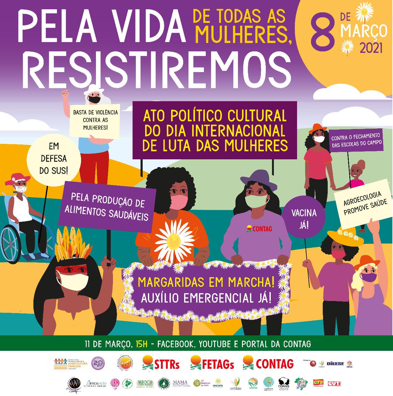 CONTAG faz ato político cultural do Dia Internacional das Mulheres