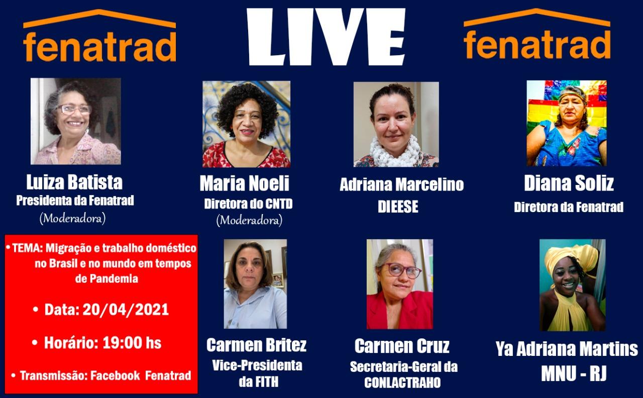 LIVE da FENATRAD debate migração e trabalho doméstico