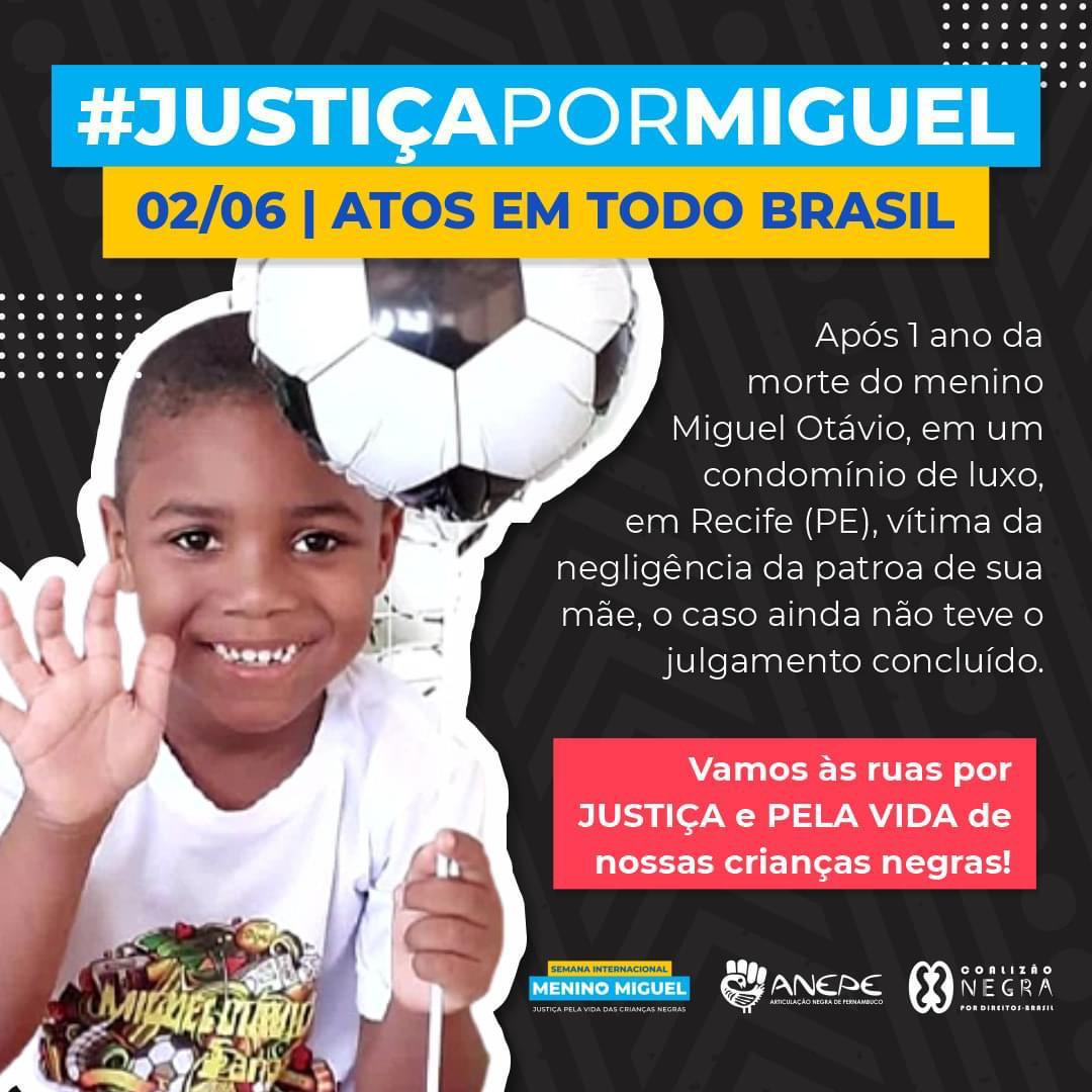 Mobilização Nacional Justiça Por Miguel