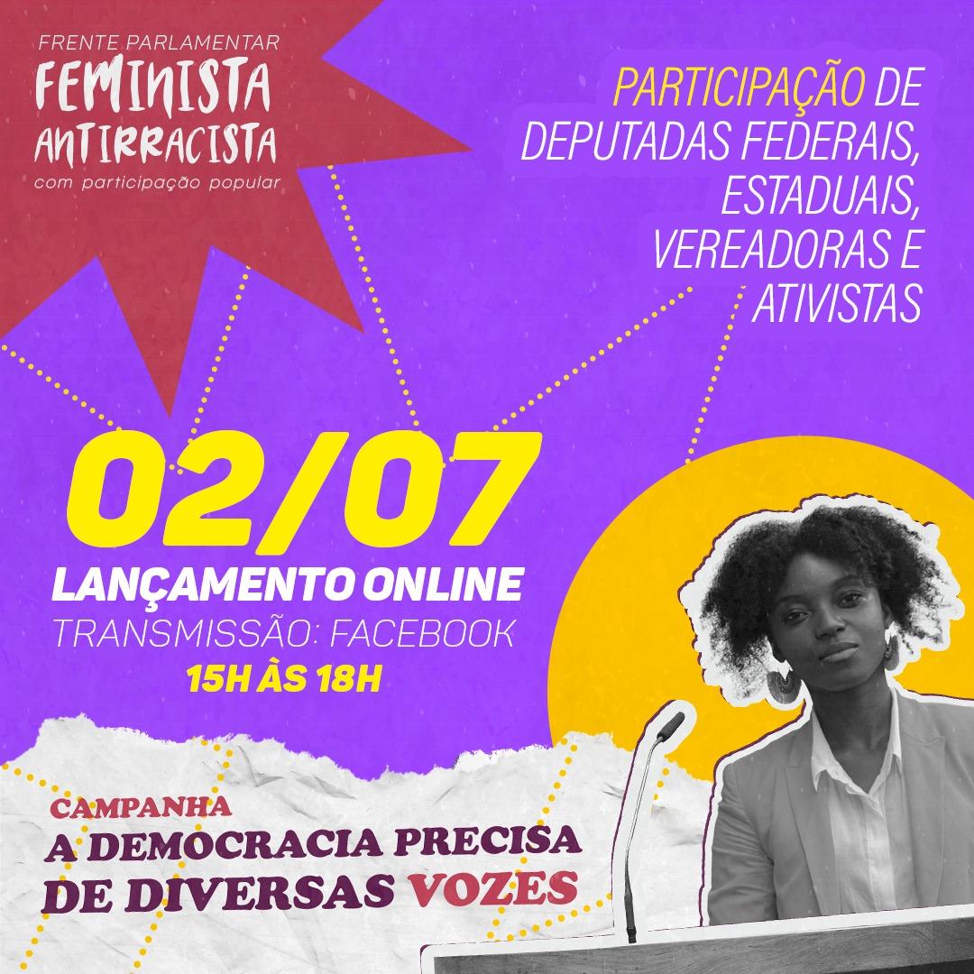 Lançamento da campanha A DEMOCRACIA PRECISA DE DIVERSAS VOZES acontece dia 2 de julho