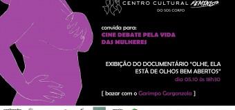 05/10/15, às 18h30: Cine Debate Pela Vida das Mulheres