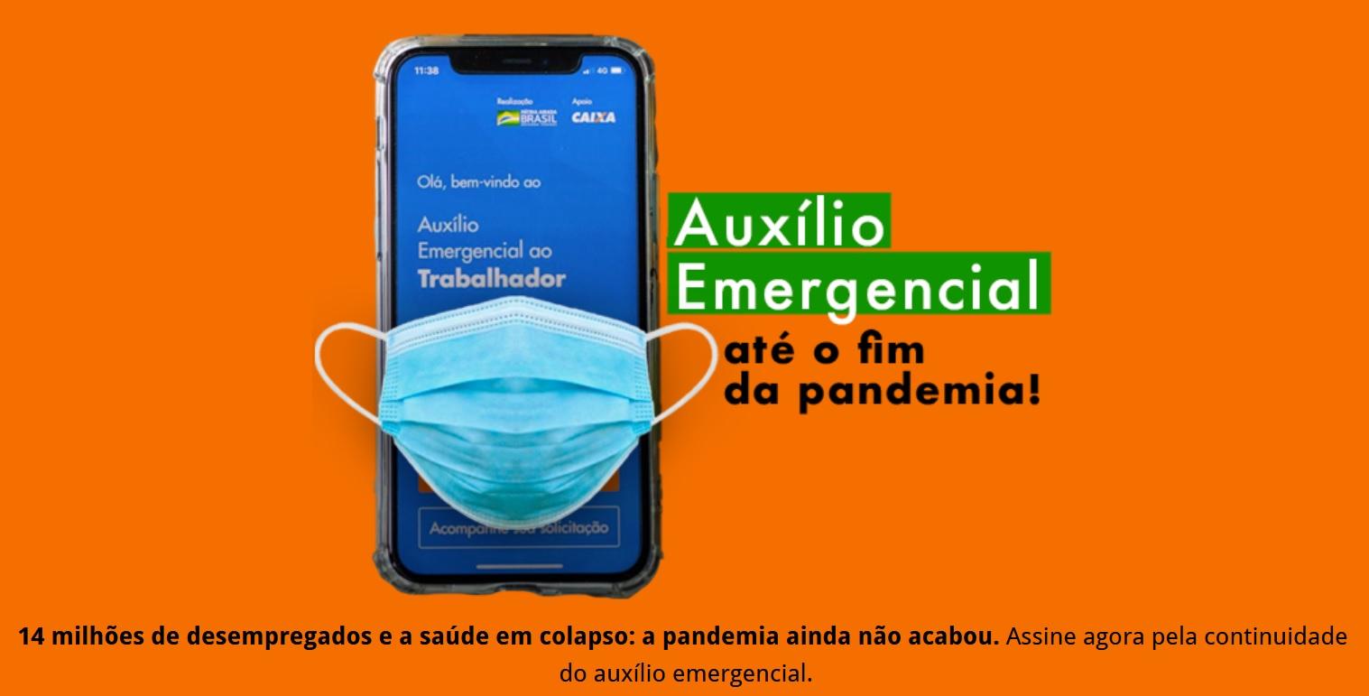 ASSINE! Auxílio Emergencial até o fim da pandemia