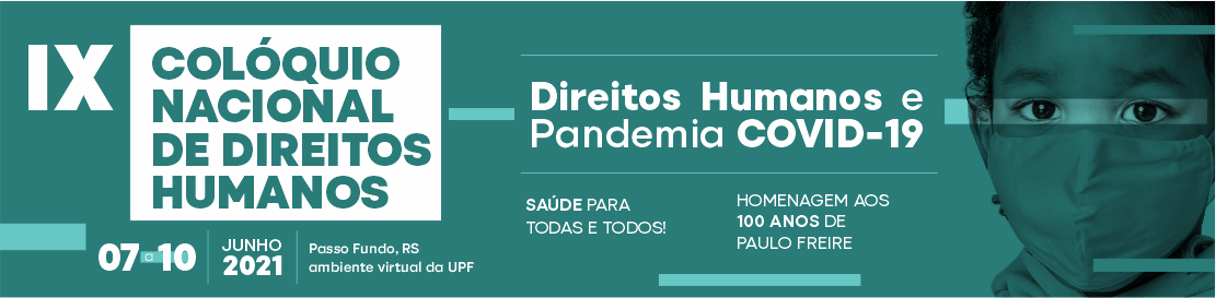IX Colóquio Nacional de Direitos Humanos começa 07 para discutir o contexto dos Direitos Humanos e a Pandemia de Covid-19