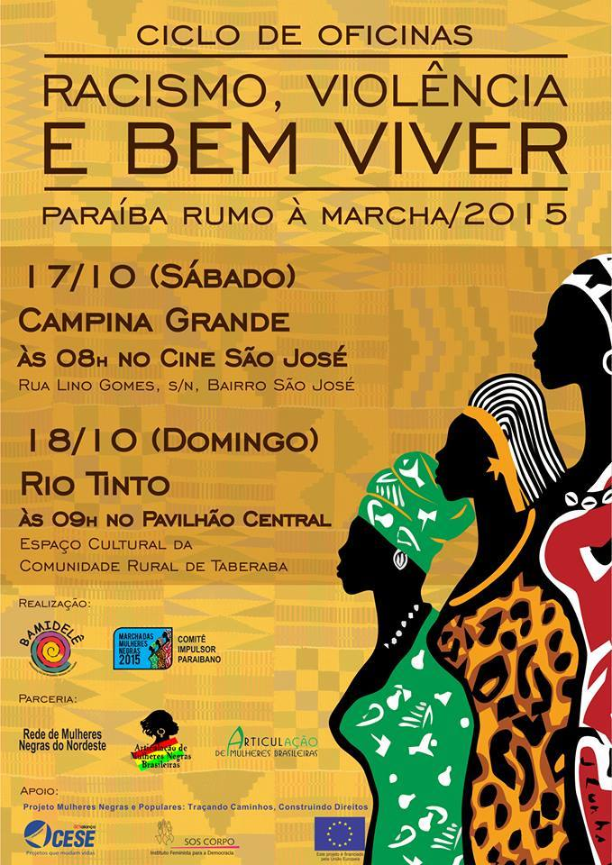 17 e 18/10/15, em Campina Grande: Ciclo de debates sobre Racismo, Violência e Bem Viver