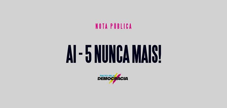 Nota pública do Pacto pela Democracia repudia declaração de Eduardo Bolsonaro