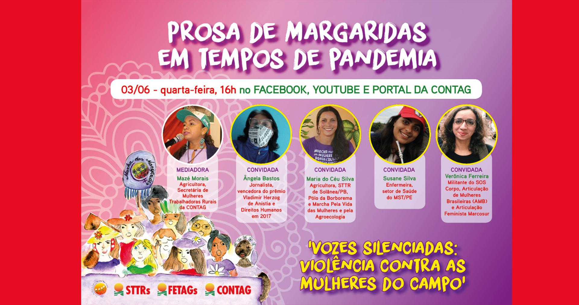 Live discute a violência contra as mulheres do campo