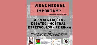 """Evento """"Vidas Negras Importam?"""" acontece na UFPE dia 06"""