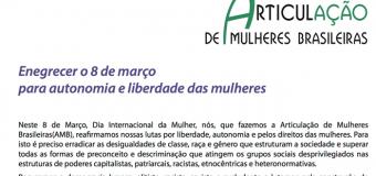 """""""Enegrecer o 8 de março  para autonomia e liberdade das mulheres"""""""