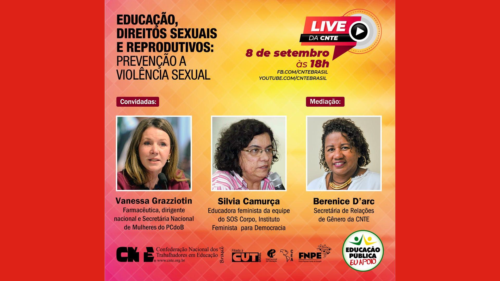 CNTE debate importância da educação e dos direitos sexuais e reprodutivos na prevenção da violência sexual