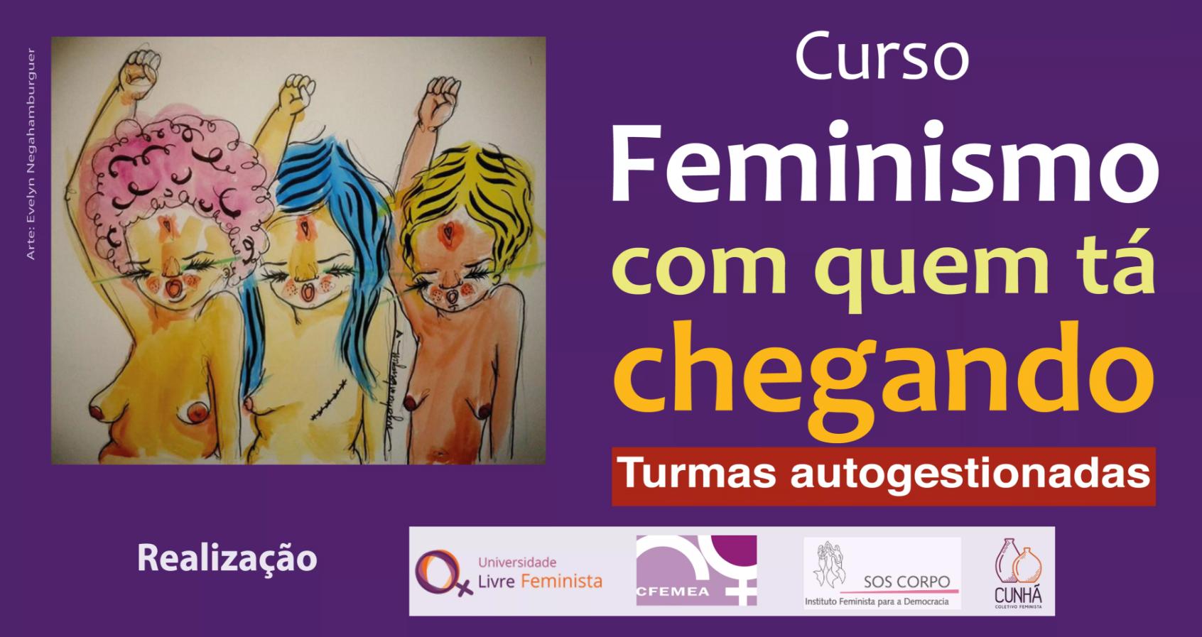Curso Feminismo com quem tá chegando – seleção EXCLUSIVA para coletivos e movimentos