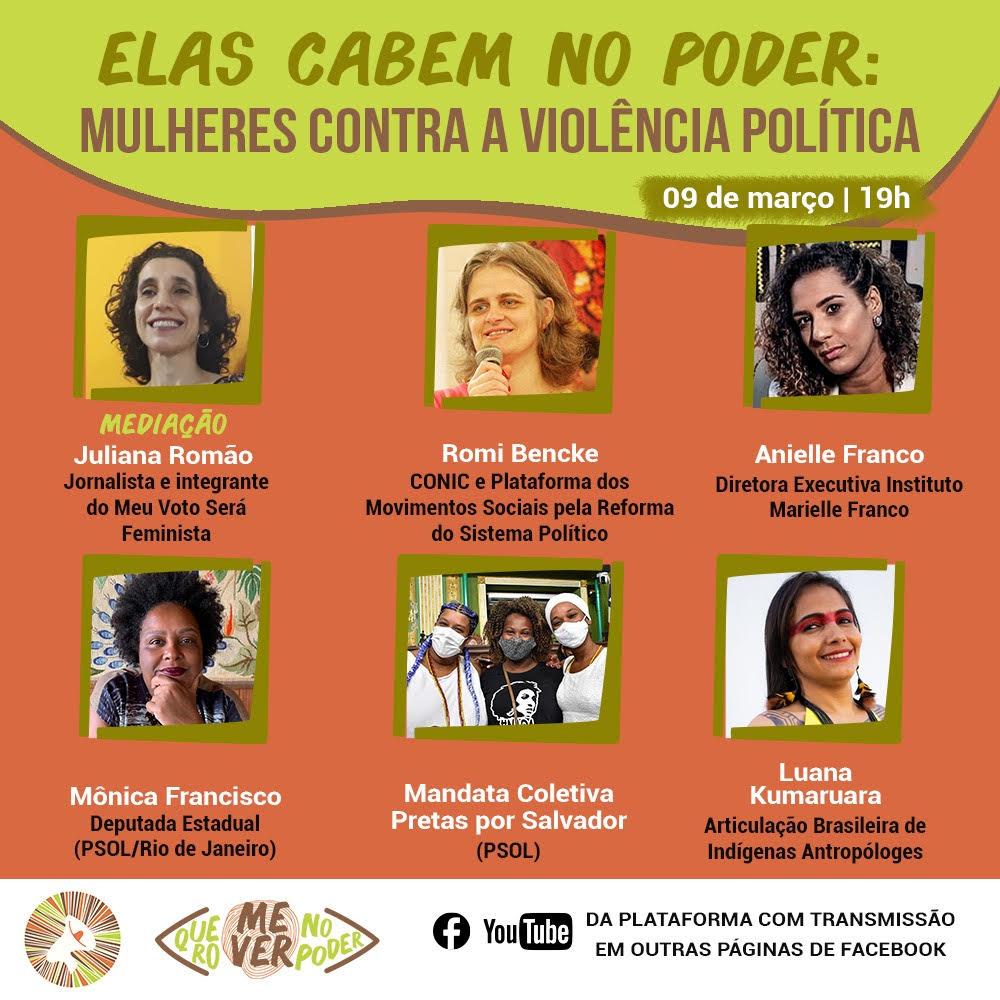 HOJE: live debate enfrentamento à violência política contra mulheres