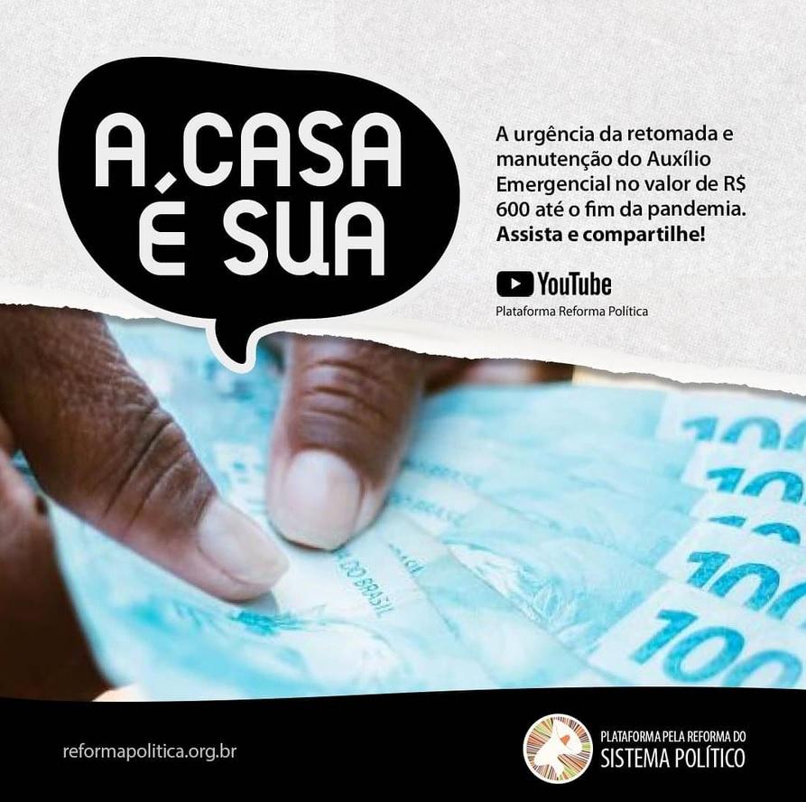 Renda Básica emergencial até o fim da pandemia JÁ!