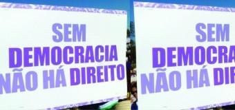 """Nesta quinta, dia 20/08/15, estaremos nas ruas com todxs que acreditam que """"Sem Democracia, não há direitos!"""" – concentração às 15h, na Praça do Derby, no Recife."""